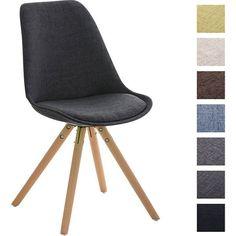 Retro Stuhl PEGLEG mit Holzgestell natura und Stoffsitz, Besucherstuhl im stilvollen Design, FARBWAHL