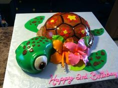 Squirt from Finding Nemo  Cake by TastyMemoriesCakes