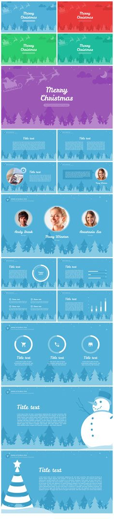 Best Business Template #design #slides Download   graphicriver - winter powerpoint template