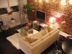 Salon #ladrillo rustico