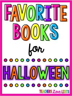 Best Halloween Books for October Read Alouds that are perfect for kindergarten, first grade, or any young child that loves Halloween!
