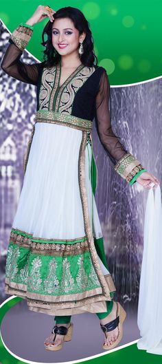 419192: #Salwarkameez #white #Partywear #Sale #onlineshopping #Ethnicwear #Weddingcouture