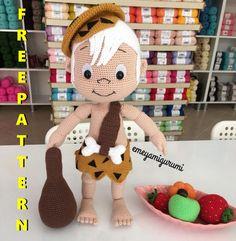 Crochet Amigurumi Free Patterns, Christmas Crochet Patterns, Crochet Animal Patterns, Crochet Doll Pattern, Stuffed Animal Patterns, Diy Crochet, Crochet Disney, Bambam, Pokemon
