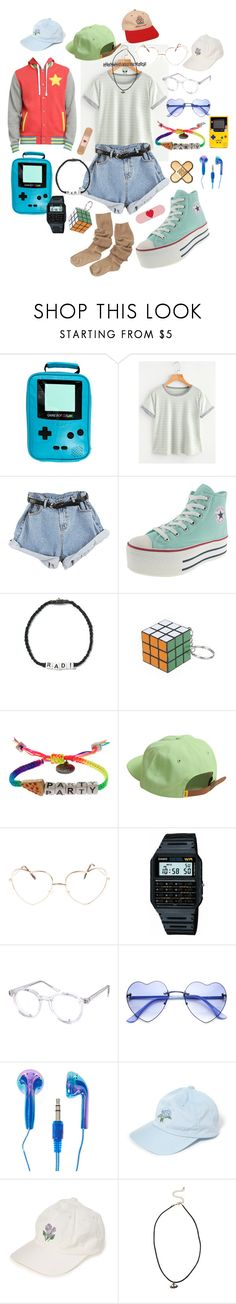 """My Outfit"" by yugens-vaporwave ❤ liked on Polyvore featuring Nintendo, Venessa Arizaga, CO, Casio, Spitfire, American Apparel, Hot Topic and Full Tilt"