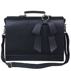 """Ecosusi 14"""" Vintage PU Ledertasche Collegetasche Lehrertasche Bürotasche Arbeitstasche Aktentasche Umhängetasche Laptoptasche"""