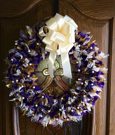 16 Purple and Gold Wreath by PensPreciousTreasure on Etsy