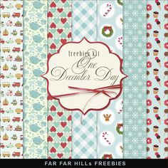 Far Far Hill: New Freebies Kit of Backgrounds - One December Day