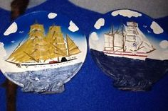Nautical Ship Plaques Lot Of 2 Great Condition Collectibles Gift