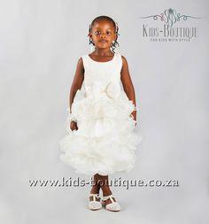 Beige Frills With Bow Flower Girls, Flower Girl Dresses, Kids Boutique, Girls Dresses, Bows, Beige, Wedding Dresses, Flowers, Style