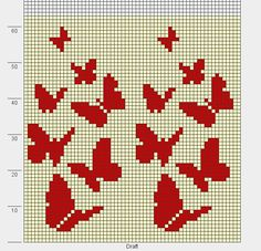 butterflies knit chart