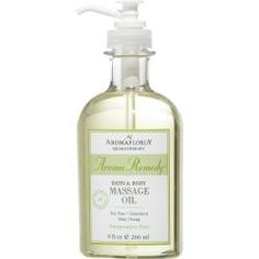 AROMA REMEDY by Aromafloria - BATH & BODY MASSAGE OIL 9 OZ BLEND OF TEA TREE, GERANIUM, AND MAY CHANG (PRESERVATIVE FREE)