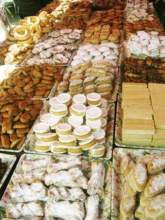spanish pastries. artisan market in palencia, spain.
