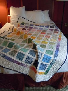 Simple & calming - what a pretty quilt, and you wouldn't have to worry about matching your room's color.