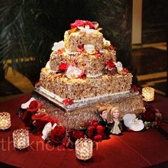 burnt almond torte wedding cake
