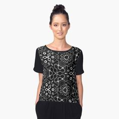Great Dane Grand Danois Newscolor Women's Chiffon Top Front Great Dane Grand Danois Gift Ideas by Waldogs Logan, Rainbow Print, Black Pattern, Black Backgrounds, Cover, Chiffon Tops, Print Chiffon, Just For You, Black And White