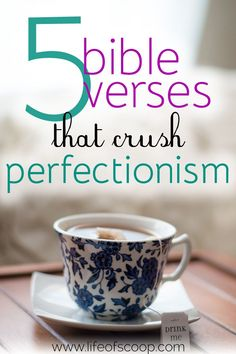 Overcoming perfection does not happen on our own. No amount of striving will ever conquer the beast of perfectionism. And that is why we must be in the pursuit of Biblical truth. Here are five perfection-crushing Bible verses that I run to when my anxiety about perfection rules. Don't fight alone. Cling to these biblical truths! Work toward progress, not perfection.