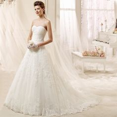 W3066 Vintage Lace Wedding Dresses 2016 Sexy Strapless Chapel Train Country Western Sexy Backless Vestido De Noiva Wedding Gown