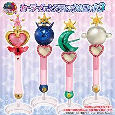"""sailor moon"" ""sailor moon toys"" ""sailor moon wands"" "" sailor moon merchandise"" liprods sailor pluto neptune uranus wand gashapon can bandai shop japan anime"