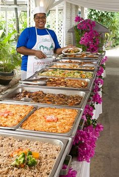Enjoy a delicious Weekday Buffet Lunch at Sunbury Plantation House, Barbados for… Wedding Buffet Food, Wedding Reception Food, Party Buffet, Cheap Wedding Food, Lunch Buffet, Wedding Catering, Catering Food Displays, Catering Buffet, Decoration Buffet