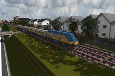 [Minecraft] Via Rail Train by Yazur on deviantART
