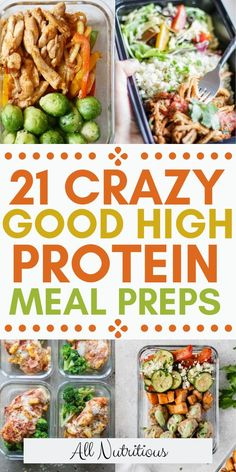clean eating meal plan These fun meal prep ideas will change your eating habits because theyre healthy, full of protein and great for weight loss. Meal prep for a month and start building your own meal plan so you can successfully lose weight. Easy High Protein Meals, High Protein Recipes, High Protein Lunch Ideas, Lean Protein Meals, Protein Diet Plan, Healthy High Calorie Meals, Low Calorie Meal Prep Lunches, Healthy Diabetic Meals, Low Calorie High Protein