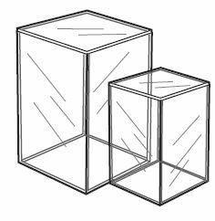 Tall Acrylic Doll Display Box, Available in 4 Sizes  #acrylic #cube