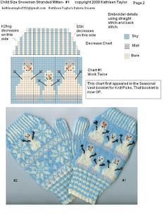 Kathleen Taylors Dakota Dreams: Freebie Friday- Part Stranded Snow Mittens Child Size Knitted Mittens Pattern, Fair Isle Knitting Patterns, Christmas Knitting Patterns, Crochet Mittens, Knitting Charts, Knitted Gloves, Loom Knitting, Knitting Stitches, Knitting Socks