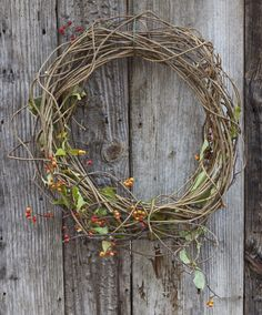 fairest flowers farm: bittersweet wreath