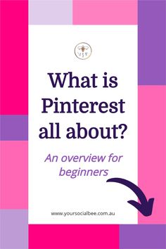 Are you a Pinterest beginner? This one is for you. Understand what Pinterest is all about and how to use it with this Pinterest overview. #pinterestforbusiness #pinterestmarketing Social Media Tips, Social Media Marketing, How Does Pinterest Work, Sales Tips, Time Management Tips, Pinterest For Business, Pinterest Marketing, Blog Tips, Passive Income