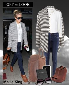 """""""Get the look: Mollie King"""" by konstantina1 ❤ liked on Polyvore"""