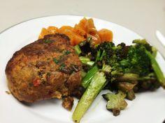 Paleo Meatloaf, Golden Beet Salad, And Broccoli: 1/31/14