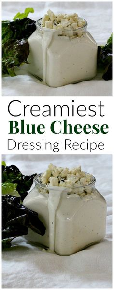 Homemade is always better. Recipe for the creamiest blue cheese dressing ever. Enjoy this easy luxurious salad dressing idea. via /lannisam/