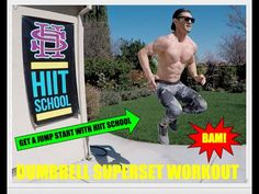 Total Body Workout | Dumbbell Superset & Active Cardio Routine | HIIT School - YouTube