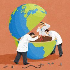 Satirické ilustrácie kritizujú našu spoločnosť a sú až desivo trefné. – Doba Mag.
