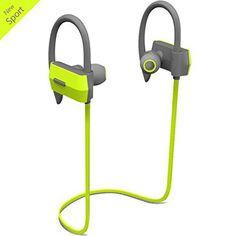 Wireless Bluetooth Sport Earbuds Headphones In Ear Ergonomic Design Workout Headphones Headset with Mic Sweatproof Flat Cable Earpieces Earhook Running Cordless Earphones---Green - http://www.exercisejoy.com/wireless-bluetooth-sport-earbuds-headphones-in-ear-ergonomic-design-workout-headphones-headset-with-mic-sweatproof-flat-cable-earpieces-earhook-running-cordless-earphones-green/fitness/