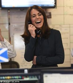 What's so funny? Kate was left in fits of laughter after one of ICAP's clients cracked a joke over the phone when she was closing a deal, December 9, 2015