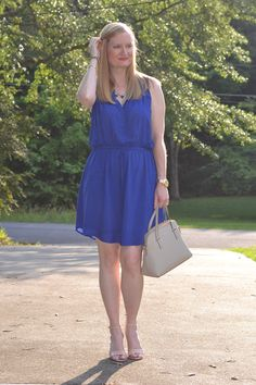 Classy Yet Trendy: Trendy Wednesday Link Up #27: Perfect Blue Dress