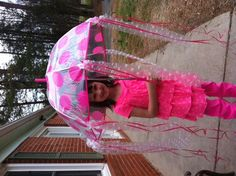 my daughter's super simple Jellyfish costume for Odyssey of the Mind. Umbrella at Target.