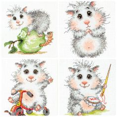 NEW UNOPENED Counted Cross Stitch mini KIT Wonderful Needle Funny Hamster #2 | Crafts, Needlecrafts & Yarn, Embroidery & Cross Stitch | eBay!