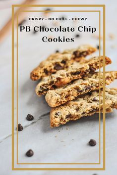 Peanut butter chocolate chip cookies with a crispy edge and chewy center. Chocolate Chip Cookie Cake, Mini Chocolate Chips, Cookie Tray, Cookie Dough, Cookie Recipes, Dessert Recipes, Best Peanut Butter, Vegetarian Chocolate, Baking