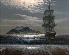 Les Peintures à l'Huile hyperréalistes de Marek Rużyk captent la magnifique Gloire des Navires en Mer (13)