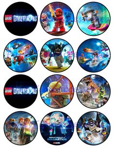 Lego Dimensions Printable DIGITAL file for by PartyTimeAccessories