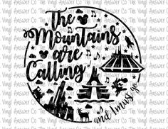 Check out our the mountains are calling disney svg selection for the very best in unique or custom, handmade pieces from our shops. Disney Diy, Disney Crafts, Disney Love, Disney Magic, Walt Disney, Disney World Vacation, Disney Vacations, Disney Trips, Disney College
