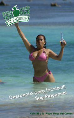 A unos cuantos pasos de la Playa mas famosa de la riviera maya. Los Pachukos playa del carmen, restaurante, cerveza botanas y ceviche
