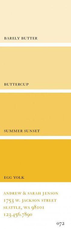 Gelbschattierungen mit warmen Grundton - Ideal für den Frühlings - Farbtyp!  Kerstin Tomancok Farb-, Typ-, Stil & Imageberatung