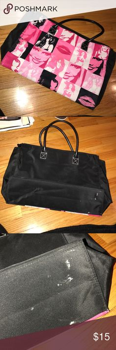 Victoria's Secret tote VS tote in good condition has one spot on the front and the bottom of the bag (pictured) Victoria's Secret Bags Totes