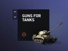 Баннер с листалкой и танком