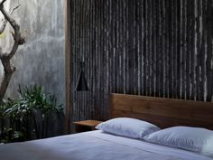 The Tiing is a Bali hotel designed by architect Nic Brunsdon, featuring rugged concrete walls that were cast against bamboo. Tulum, Bali, World Architecture Festival, Wooden Screen, Ground Floor Plan, Dezeen, Brutalist, Frames On Wall, Living Spaces