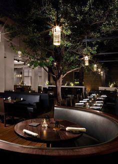 "Das ""Bourbon Steak"" Restaurant in Arizona! Cafe Bar, Cafe Restaurant, Restaurant Seating, Restaurant Concept, Luxury Restaurant, Bar Seating, Bar Interior, Restaurant Interior Design, Outdoor Restaurant Design"