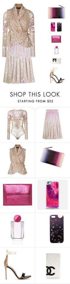 """Pascal(Chameleon) V"" by sol4nge ❤ liked on Polyvore featuring Amen, Christopher Kane, Elie Saab, Ana Romero, Burberry, Casetify, STELLA McCARTNEY, Nikki Strange, Gianvito Rossi and Chanel"